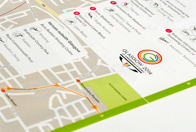 Glasgow 2014 Commonwealth Games map